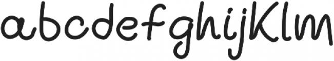 Ballpen And Chalk 10 Regular otf (400) Font LOWERCASE