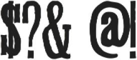 Ballymoss ttf (400) Font OTHER CHARS