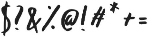 Ballystic Regular otf (400) Font OTHER CHARS