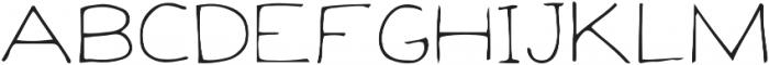 Baloo-Raw Regular otf (400) Font LOWERCASE
