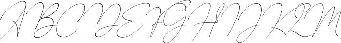 Baltimore Regular - Italic otf (400) Font UPPERCASE