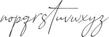 Baltimore Regular - Italic otf (400) Font LOWERCASE