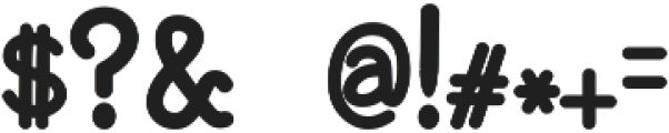 BaltimoreTypewriterBold otf (700) Font OTHER CHARS