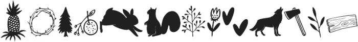 Bambi Woodland ttf (400) Font UPPERCASE