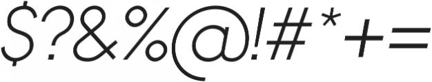 Bambino Light Italic otf (300) Font OTHER CHARS