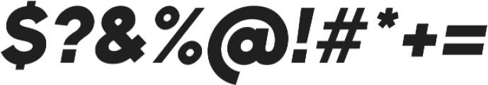 Bambino New BlackItalic otf (900) Font OTHER CHARS