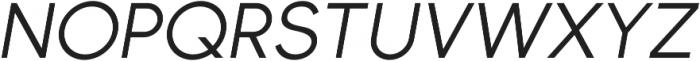 Bambino New RegularItalic otf (400) Font UPPERCASE