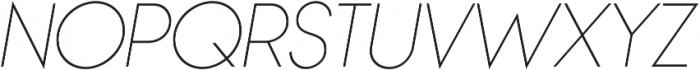Bambino Thin Italic otf (100) Font UPPERCASE