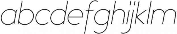 Bambino Thin Italic otf (100) Font LOWERCASE