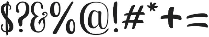 Bananito Display otf (400) Font OTHER CHARS