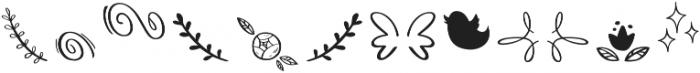 Bananito Symbols otf (400) Font LOWERCASE