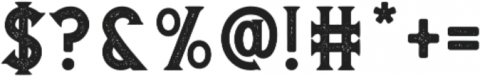 Banderas Serif Stamped otf (400) Font OTHER CHARS