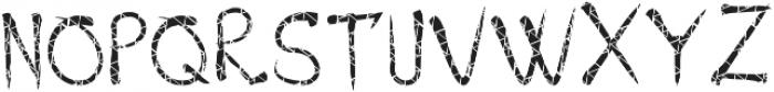 BanditFont Texture1 otf (400) Font UPPERCASE