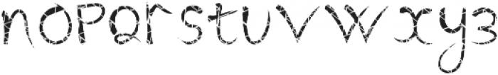 BanditFont Texture1 otf (400) Font LOWERCASE