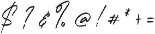 Bandung Signature Alt otf (400) Font OTHER CHARS