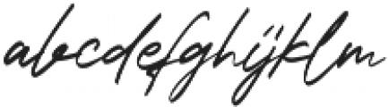 Bandung Signature Alt otf (400) Font LOWERCASE
