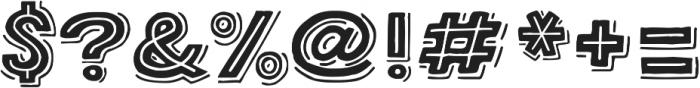 Bangarang Double ttf (400) Font OTHER CHARS