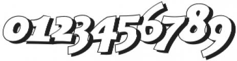 Bangbang Outline Italic otf (400) Font OTHER CHARS