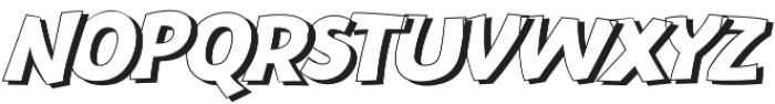 Bangbang Outline Italic otf (400) Font UPPERCASE