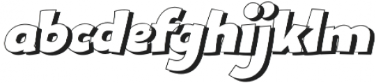Bangbang Outline Italic otf (400) Font LOWERCASE
