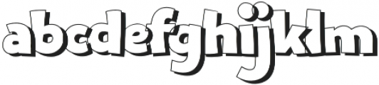 Bangbang Outline otf (400) Font LOWERCASE