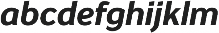 Banjax Lite Bold Italic otf (700) Font LOWERCASE