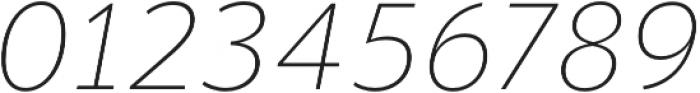 Banjax Lite ExtraLight Italic otf (200) Font OTHER CHARS