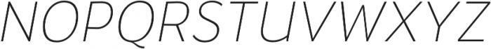 Banjax Lite ExtraLight Italic otf (200) Font UPPERCASE