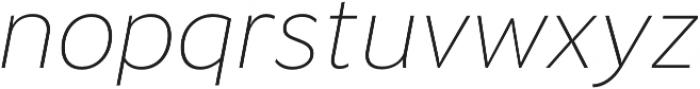 Banjax Lite ExtraLight Italic otf (200) Font LOWERCASE