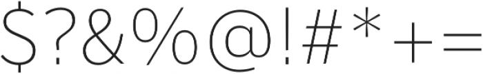 Banjax Lite ExtraLight otf (200) Font OTHER CHARS