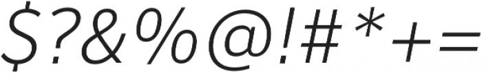 Banjax Lite Light Italic otf (300) Font OTHER CHARS