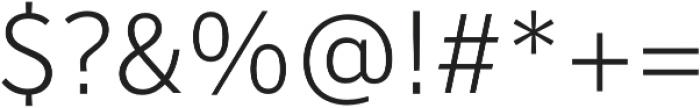 Banjax Lite Light otf (300) Font OTHER CHARS