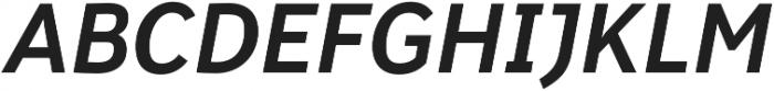 Banjax Lite Medium Italic otf (500) Font UPPERCASE