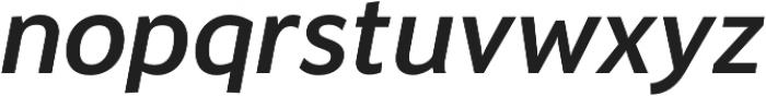 Banjax Lite Medium Italic otf (500) Font LOWERCASE
