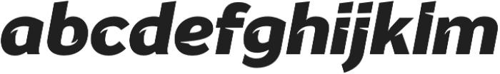 Banjax Notched Black Italic otf (900) Font LOWERCASE