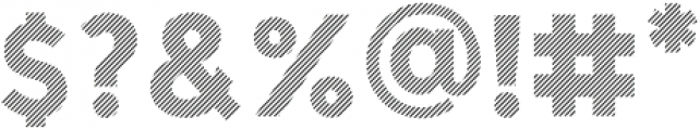 BankNue Lined otf (400) Font OTHER CHARS