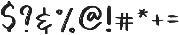 Barbala Regular otf (400) Font OTHER CHARS