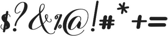 Barbara Bold Script Regular otf (700) Font OTHER CHARS