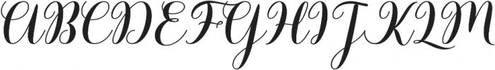 Barbara Bold Script Regular otf (700) Font UPPERCASE