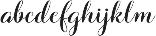 Barbara Bold Script Regular otf (700) Font LOWERCASE