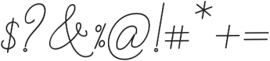 Barbara Monoline Bold Regular otf (700) Font OTHER CHARS