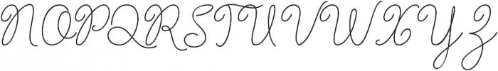 Barbara Monoline Bold Regular otf (700) Font UPPERCASE