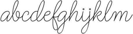 Barbara Monoline Bold Regular otf (700) Font LOWERCASE