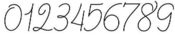 Barbara Monoline Script Regular otf (400) Font OTHER CHARS