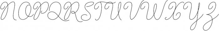 Barbara Monoline Script Regular otf (400) Font UPPERCASE
