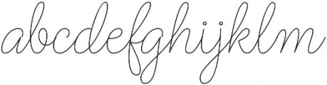 Barbara Monoline Script Regular otf (400) Font LOWERCASE