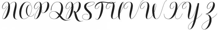 Barbara Script Regular otf (400) Font UPPERCASE