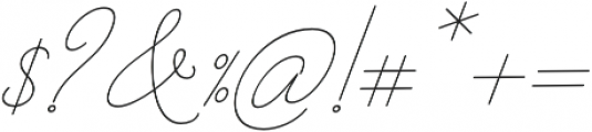 Barbara Slant Monoline Regular otf (400) Font OTHER CHARS