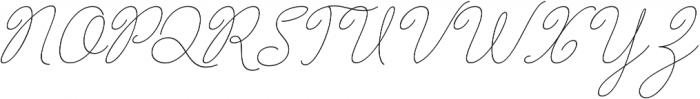 Barbara Slant Monoline Regular otf (400) Font UPPERCASE