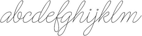 Barbara Slant Monoline Regular otf (400) Font LOWERCASE